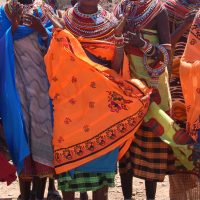 Samburu women in northern Kenya.