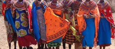 Samburu women in northern Kenya.