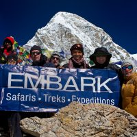 A group of Embark hikers on Kala Patthar.