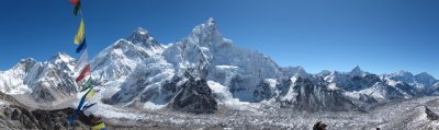 A photo from the summit of Kala Patthar