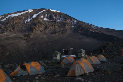 A camp site on Mt. Kilimanjaro.