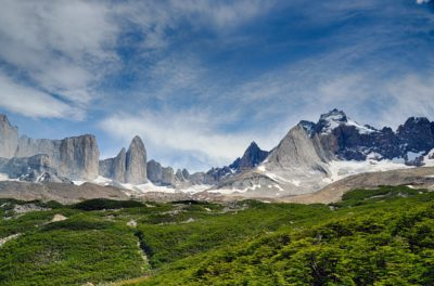 A mountain range in Patagonia.