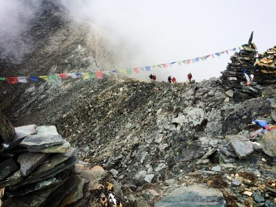 Prayer flags in the Himalayan Mountains