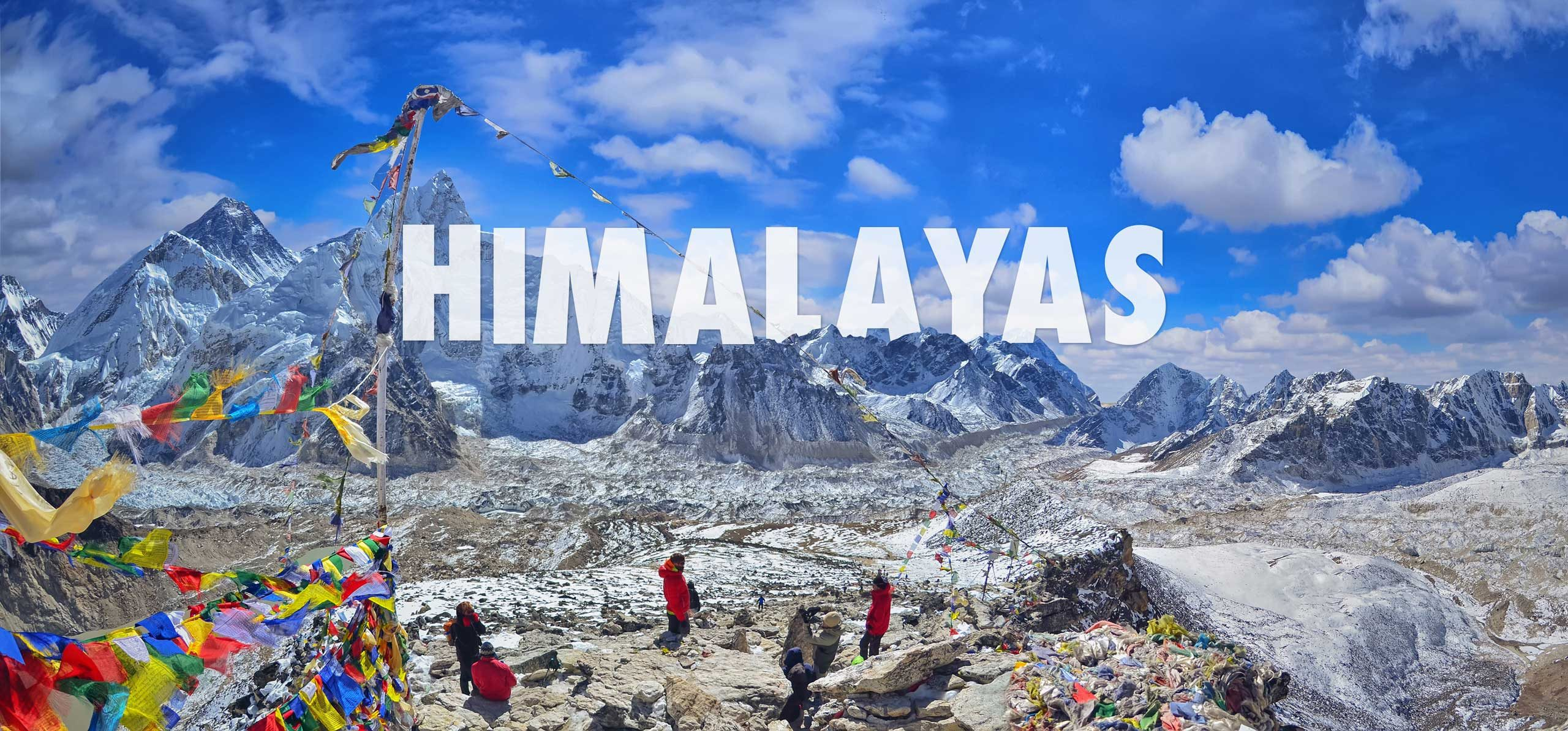 Hikers at Basecamp in the Himalayas