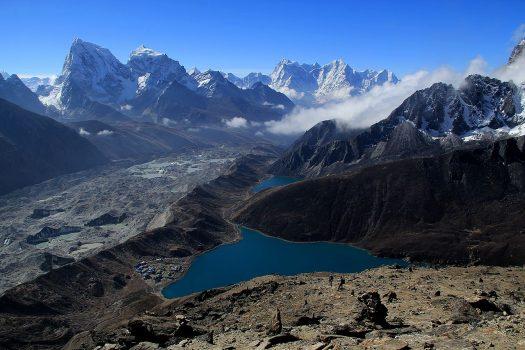 Gokyo Lakes from Gokyo Ri, trek to Mount Everest Base Camp, Nepal
