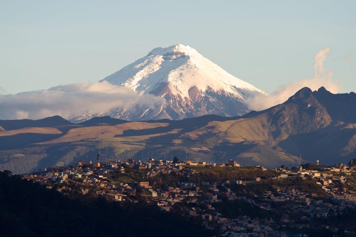 Cotopaxi volcano in Ecuador