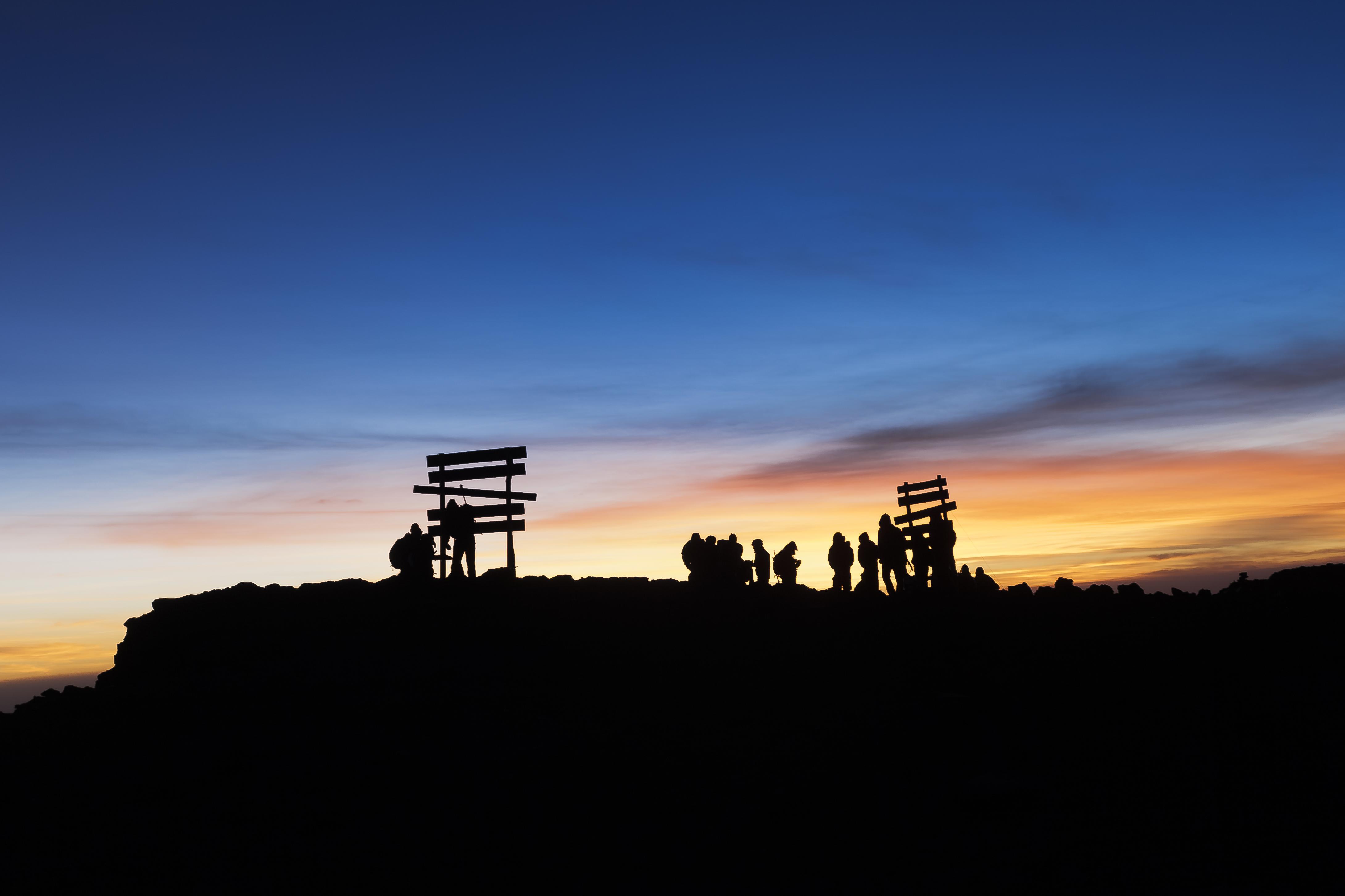 Sunrise at the summit of Mt. Kilimanjaro