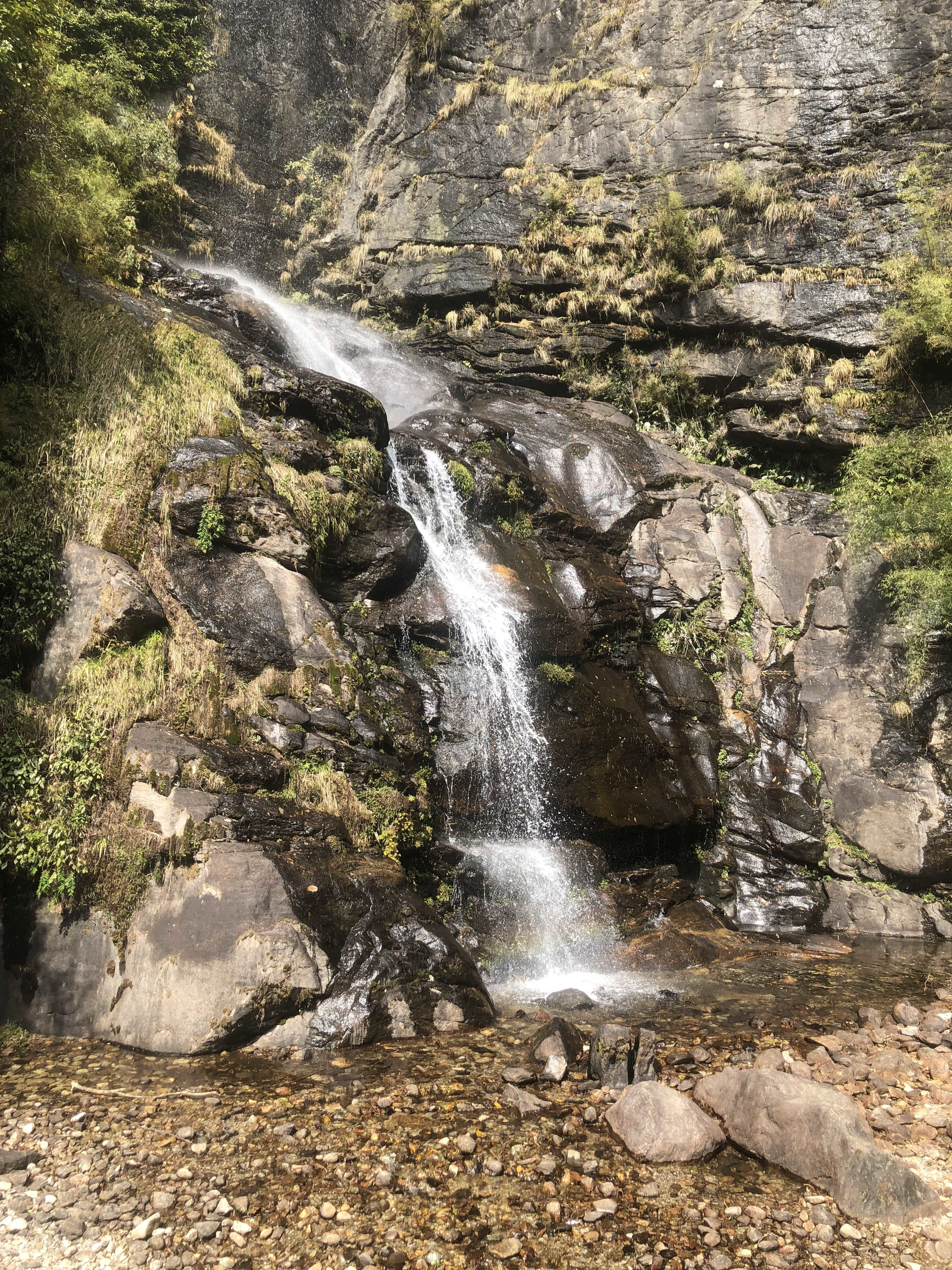 A waterfall along the trek to Everest Base Camp