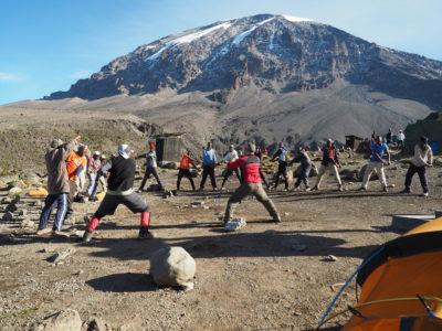 Teaching Taekwondo on Mt. Kilimanjaro